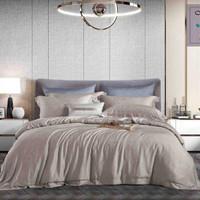 bed cover set king koil tencel warna khaki dan abu uk king 180x200