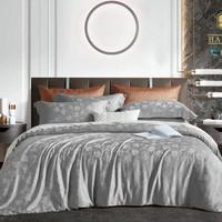 bed cover set king koil tencel warna abu dan silver king size 180x200