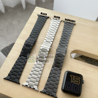 Strap Apple Watch SE 6 5 4 STAINLESS STEEL Rantai Metal band 40mm 44mm