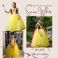 Snow White Terbaru Disney Princess Kostum Impor Dress Baju Pesta Ulang