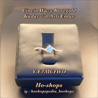 Cincin Wavy Rosegold Kadar 750 Asli Emas