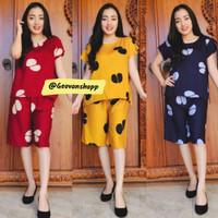 Setelan Rayon Pendek Model BabyDoll / Baju Setelan Celana Bali Wanita