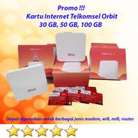 Kartu Telkomsel Orbit Bundling Modem Orbit Paket Internet Hemat - 50 GB