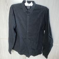 Kemeja Lengan Panjang Pria Armani Exchange Slim fit size M Black