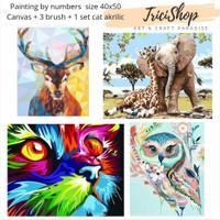 DIY painting by number set kerajinan tangan lukisan ANIMAL SERIES