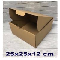 kardus 25 x 25 x 12 cm.. Die cut kotak untuk Kue Tart - Aksesoris -dll