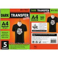 KERTAS SUBLIM TRANSFER PAPER DARK A4 300G V-TEC