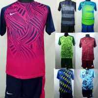 Setelan Baju/Kaos Sepak Bola/Futsal Dri-Fit Print Dewasa - RANDOM / CHAT, L