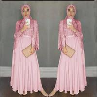 maxi dress brokat/gamis wanita/baju muslim/baju pesta/kondangan/modern