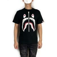 Bape City Camo White Shark Tee Black 100% Original BNIP