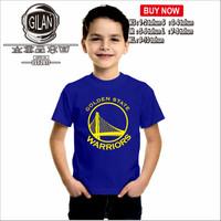 Kaos Baju Anak GOLDEN STATE WARRIORS Kaos Anak Basket Sport - Gilan - XS, Hitam