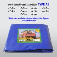 TERPAL PLASTIK A5 UKURAN 3X3 Meter Merk CAP GAJAH