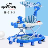 Baby Walker Spacebaby Space Baby SB-611-3 Murah Meriah biru