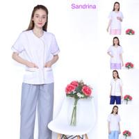 Baju seragam suster/ Baju baby sitter/ Baju nanny/ Seragam klinik - S, Biru