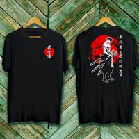 Baju Kaos Samurai Hitam x/ Pria Wanita Cotton30s