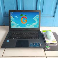 Asus X453S Warna Hitam Slim Intel Celeron N3050 RAM 2GB HDD 320GB