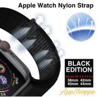 Apple Watch Series SE 6 5 4 3 2 1 BLACK EDITION Nylon Strap Band Loop