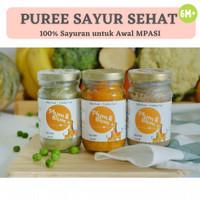 Paket MPASI 3 Botol Organic Puree Sayuran / Baby Food