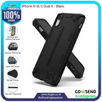 Ringke iPhone Xr Dual X Black Softcase Hybrid Anti Crack Military Drop