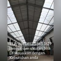 atap fiberglass, atap penerangan gudang