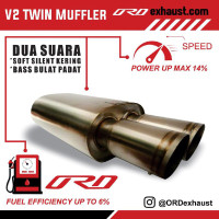 Muffler V2twin ORD exhaust