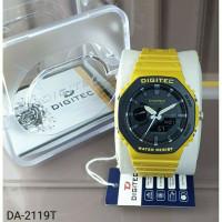 jam tangan pria DIGITEC 3119 Tali rubber Dualtime original