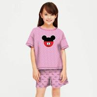 baju setelan anak perempuan model celana umur 6- 12 tahun/ dior anak - S, DIOR PINK