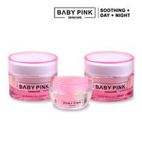 Baby Pink Skincare - Glowing Day Cream, Night Cream, Soothing Gel