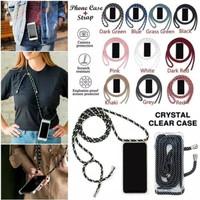 Samsung Galaxy Note 5 Case Cover Transfarant Strap + Tali Gantung