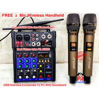Mixer Audio + 2 Mic Wireless SOUNDPRO SP9 / SP 9 (ORIGINAL) SOUNDCARD