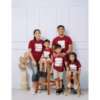 kaos Baju Pakaian couple sarimbit distro keluarga marun