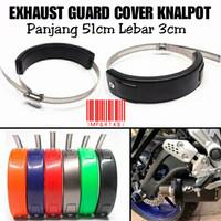 Exhaust Guard Cover Pelindung Knalpot Racing Muffler Crash Protector