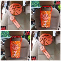 Bantal Headrest Cover Sarung Seatbelt Tempat Tisu Mobil Bola Basket