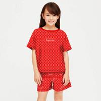 baju setelan anak perempuan model supreme umur 6-12 tahun/fashion anak - S, SUPREME