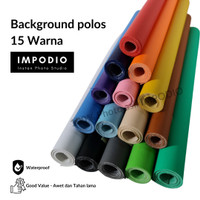 Impodio Background foto warna polos terbaik Ukuran 300cm x 140cm