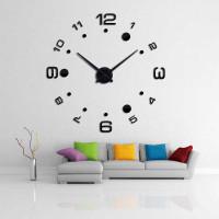 Jam Dinding Besar Unik DIY Giant Wall Clock Arcylic 100cm - DIY-204 - Hitam
