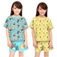 baju setelan anak perempuan motif mickey umur 6-12 tahun/ Disney anak
