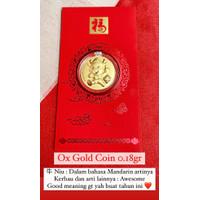 Beli Angpao Emas 24 Karat Sincia Kerbau Ox Coin 2021 0.18gr