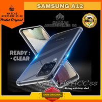 SAMSUNG GALAXY A12 SOFT CRYSTAL CRACK CASE COVER CLEAR CASING BENING
