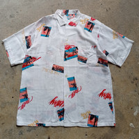 kemeja santo bubu japan hawaiian rayon shirt wacko maria sunsurf cdg