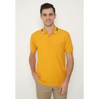 Jack Nicklaus Zacquin Polo Shirt Pria Regular Fit Mustard