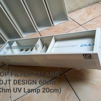 Top Filter Talang Aquarium DJT DESIGN UK 60cm + chamber lampu UV