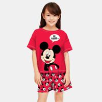 Baju Setelan Anak Perempuan / Setelan Anak Cewek Umur 5-12 Tahun - hi there, S