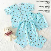 Gudetama Short Pajamas Set - Piyama Dewasa - Katun Jepang