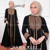 Baju Dress Abaya Muslim Gamis Arab Hitam bordir Lebanon by Noerabaya