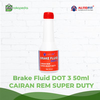 Autofit Brake Fluid DOT-3 50ml Minyak Rem Untuk Mobil dan Motor 20pcs