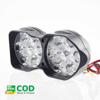 Lampu Tembak Motor ATV Spotlight 18 LED Waterproof - Beam Light U9