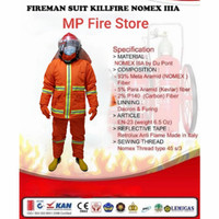 Baju Pemadam Kebakaran Damkar Fireman Suit Nomex IIIA Tahan Api Tebal