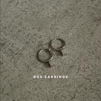 Box Earrings / Anting unisex - Clip