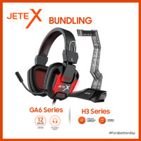 JETE BUNDLING Headset Gaming GA6 + Headset Stand H3
